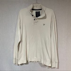 AEO henley style pullover